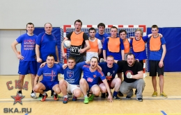 SKA and Lokomotiv fans played a football match at Hockey City (25.03.2017)