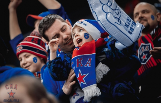 At the SKA - Dinamo Riga match (14.01.2020)