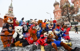 The KHL club talismans at the KHL All-Star Game (23.01.2016)