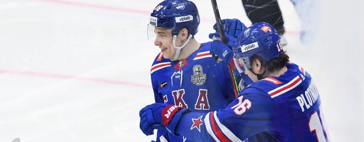 Andrei Kuzmenko and Sergei Plotnikov are in the top 10 goals of the KHL Gagarin Cup playoffs first round