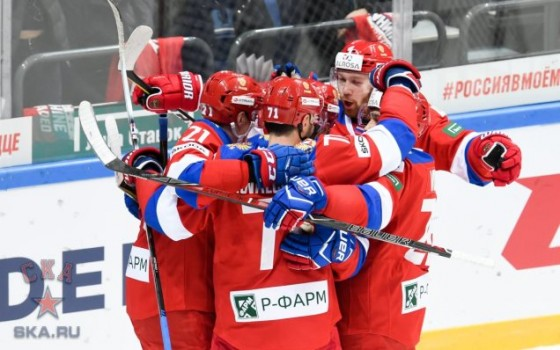 SKA players at the 2017 Channel One Cup