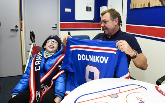 SKA and the Children's Hospice have made a young fan's dream come true