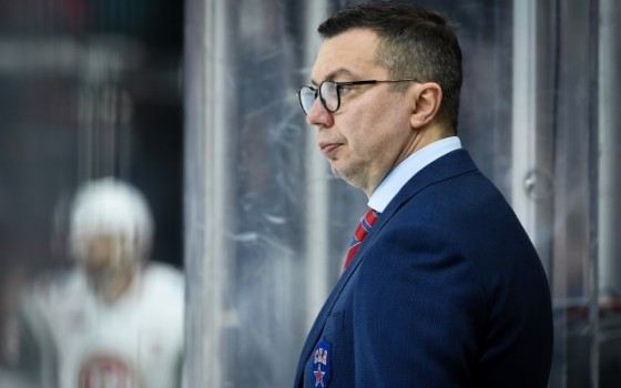 Ilya Vorobyov is the head coach of the Bobrov Division at the KHL All-Star Game