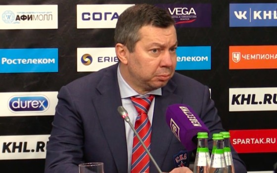 Spartak - SKA. Press-conference of game three