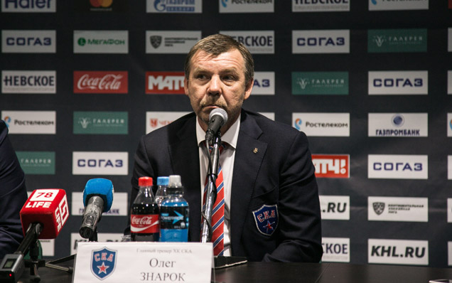 SKA - Lokomotiv. Press-conference of game one