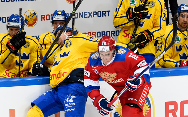 Czech Hockey Games. Sweden - Russia - 4:3 OT