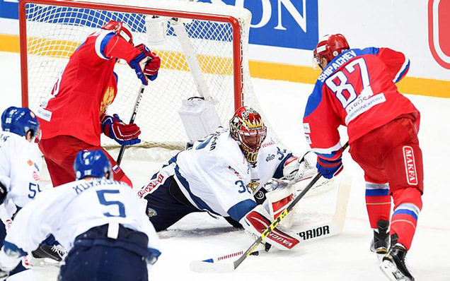 Czech Hockey Games. Russia - Finland - 0:1