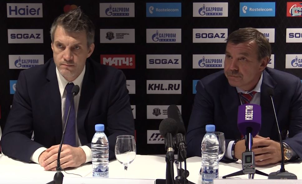 Dinamo Riga - SKA. Press-conference