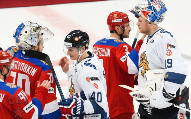 SKA players at the Karjala Cup