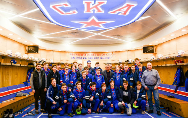 The SKA-Varyagi 2002 team visited Hockey City