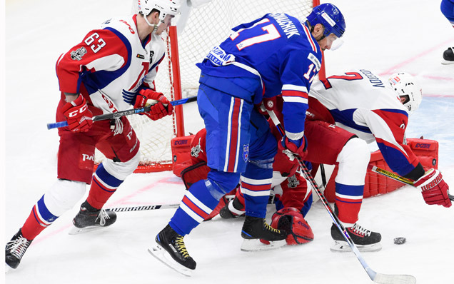 Game one. SKA - Lokomotiv - 4:0
