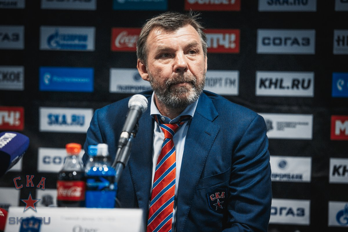 SKA - CSKA. Press-conference of game one