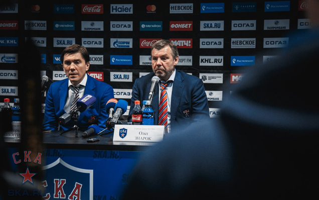 SKA - CSKA. Press-conference of game two