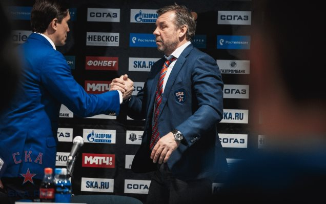 CSKA - SKA. Press-conference of game three