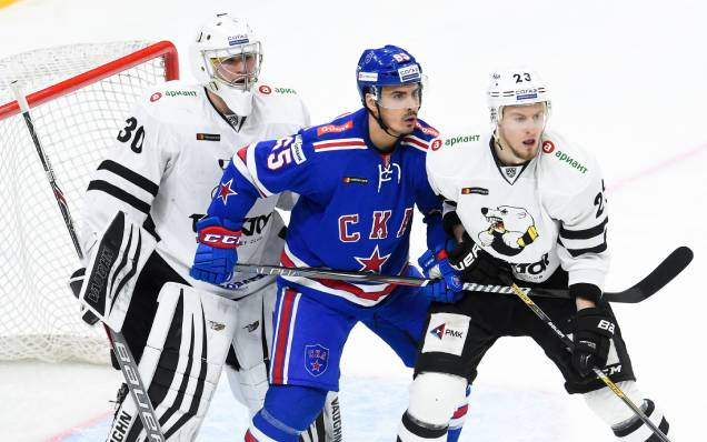 The KHL match against Traktor will start later